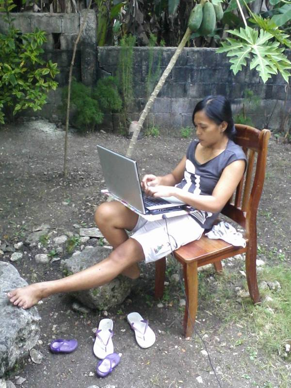 The beauty of online freelancing is that you can work at your own discretion. (This was taken after the 7.2 magnitude earthquake hit our area. Still able to work despite of the post trauma.)