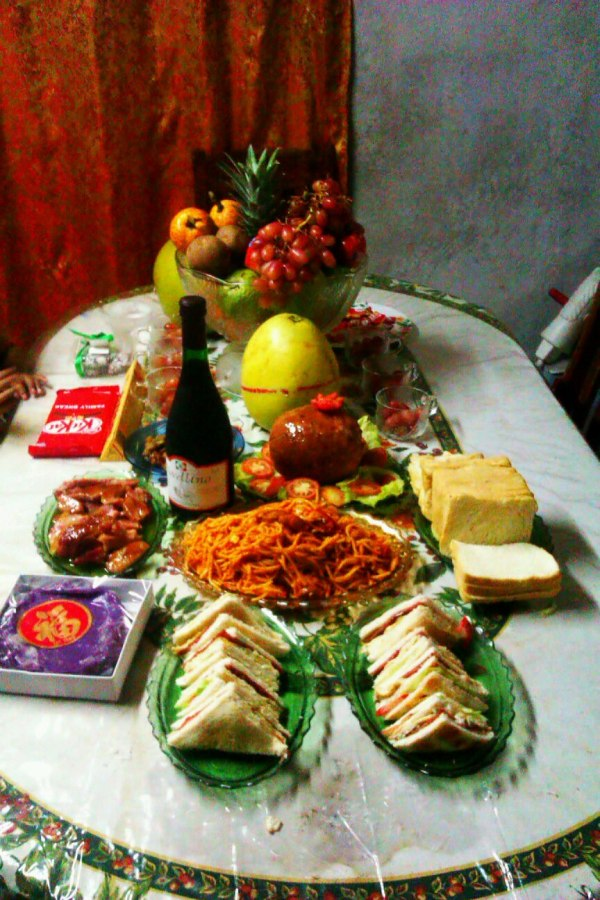 This was our preparation in the previous New Year celebration.